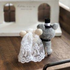 画像2: 【ブライダル】羊毛マスコット ねずみ (2)